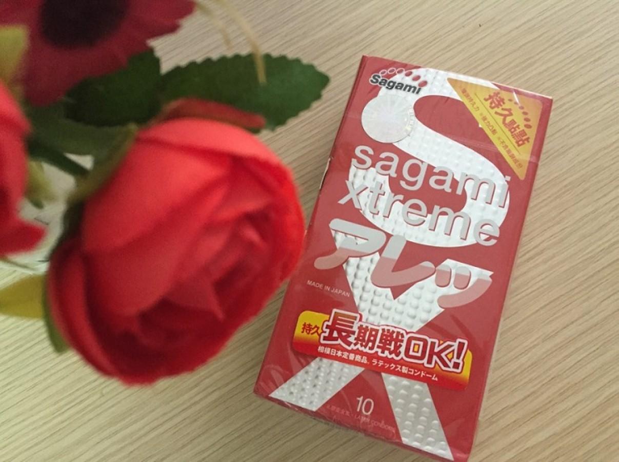 Bao Cao Su Sagami Xtreme Feel Long Có Gai