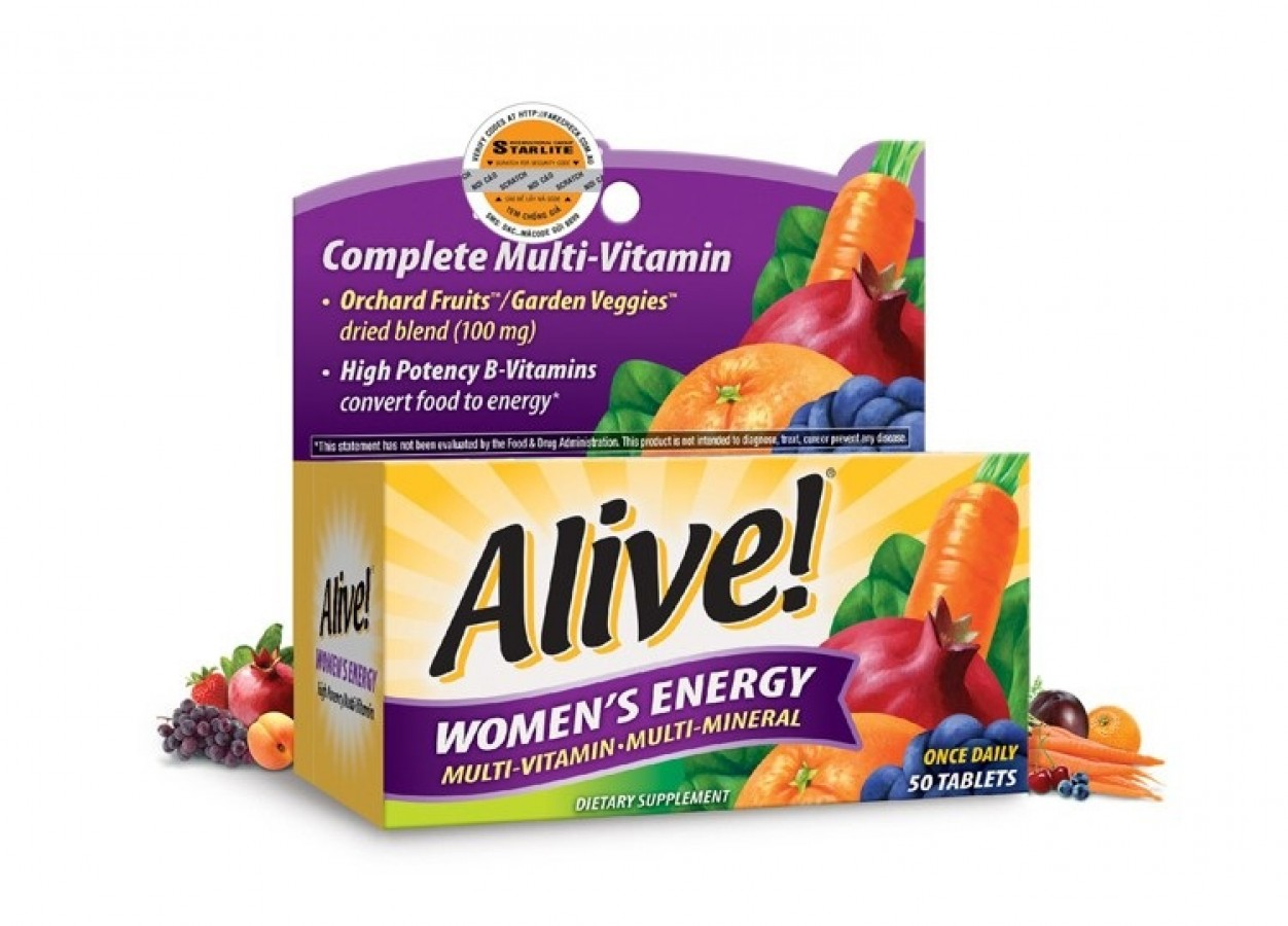 Alive Women's Energy - Vitamin Tổng Hợp Cho Nữ Dưới 50 Tuổi