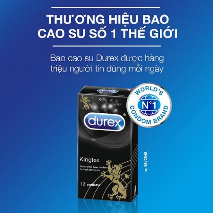 Bao Cao Su Durex Kingtex Size Nhỏ 12 Bao