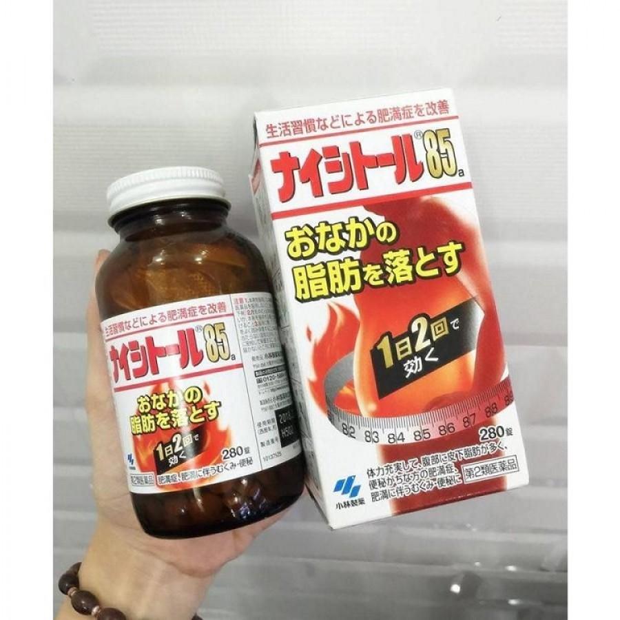 Viên Uống Giảm Cân Naishitoru 85 Kobayashi Nhật Bản