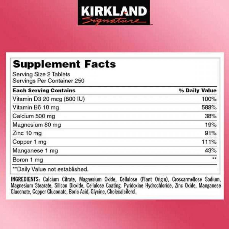 Viên Uống Kirkland Signature Calcium Citrate Magnesium And Zinc Của Mỹ