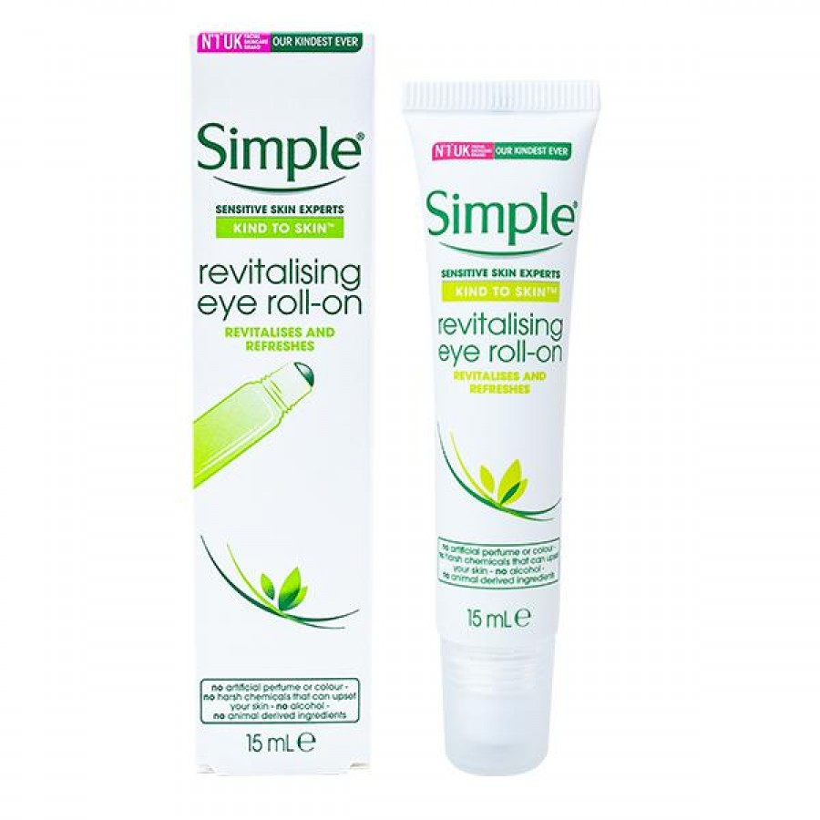 Lăn Dưỡng Mắt Simple Kind To Eyes Revitalising Eye Roll-On