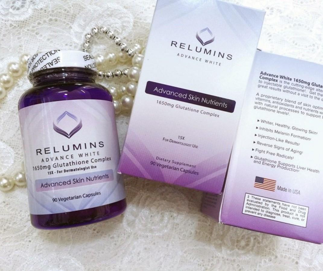 Viên Uống Trắng Da Relumins Advance White 1650mg Glutathione Của Mỹ