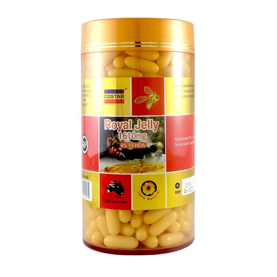 Sữa Ong Chúa Costar Royal Jelly 1610mg 365 Viên Của Úc
