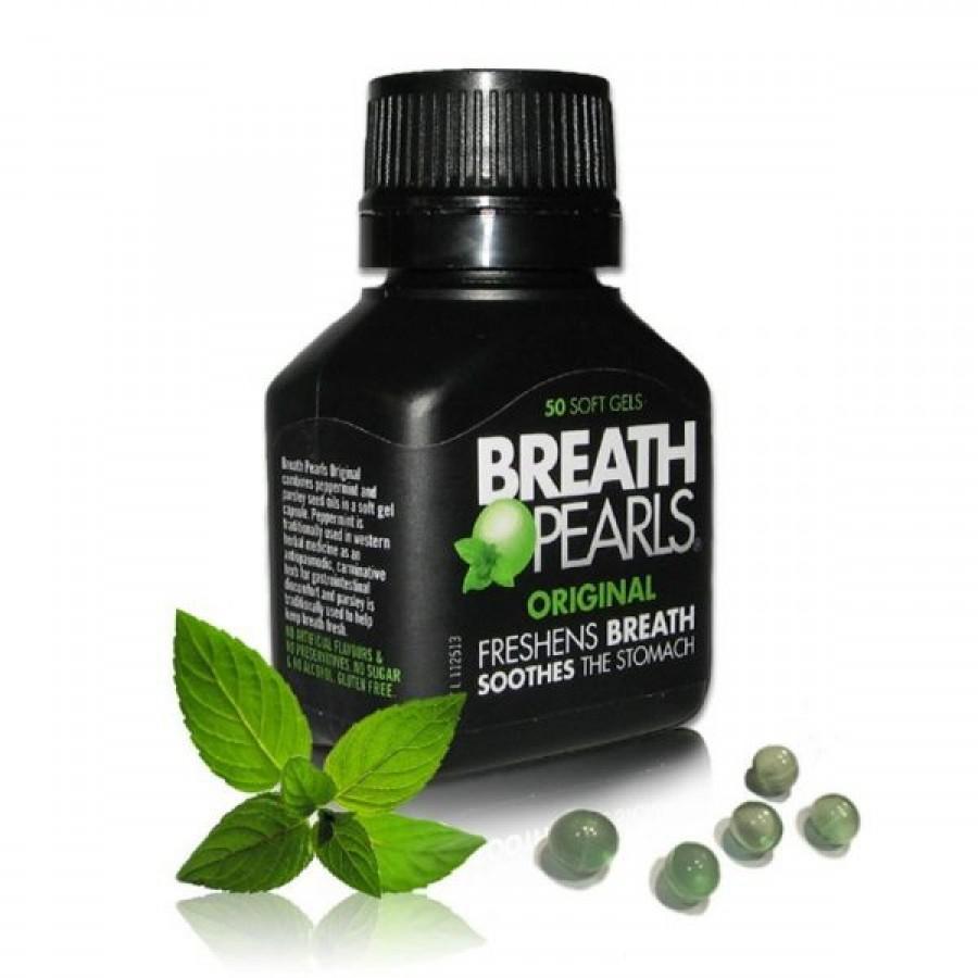 Viên Uống Thơm Miệng Breath Pearls  Của Úc