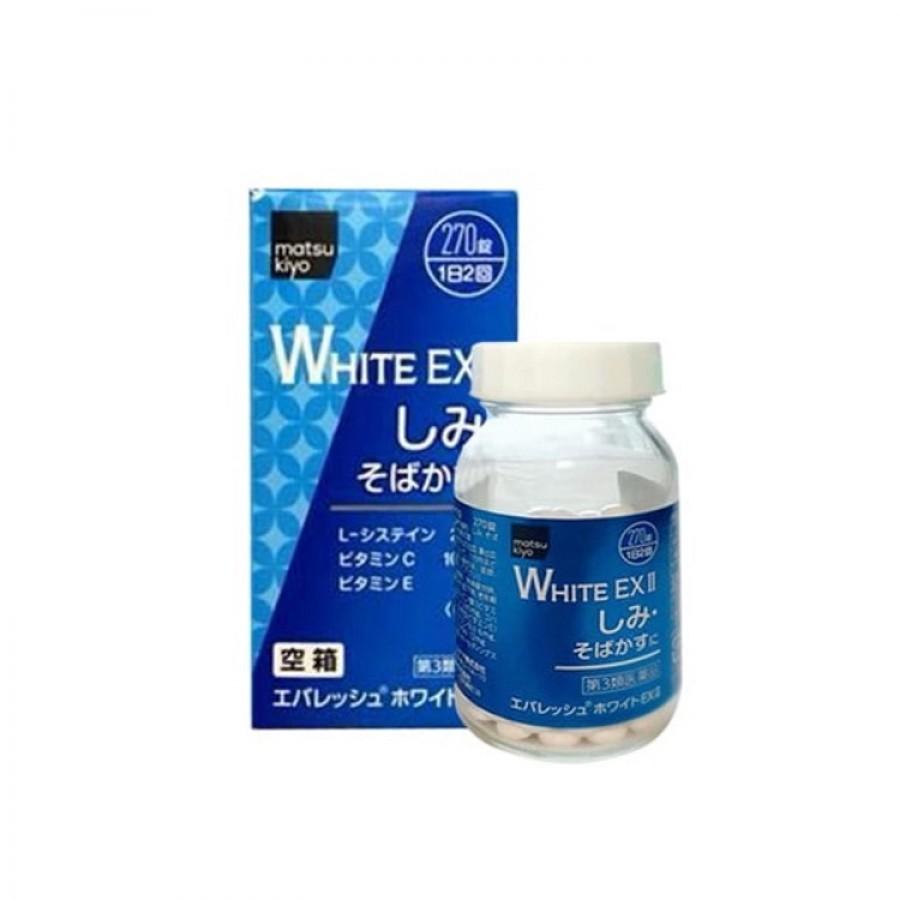 Viên Uống Trắng Da Trị Nám White EX Nhật Bản
