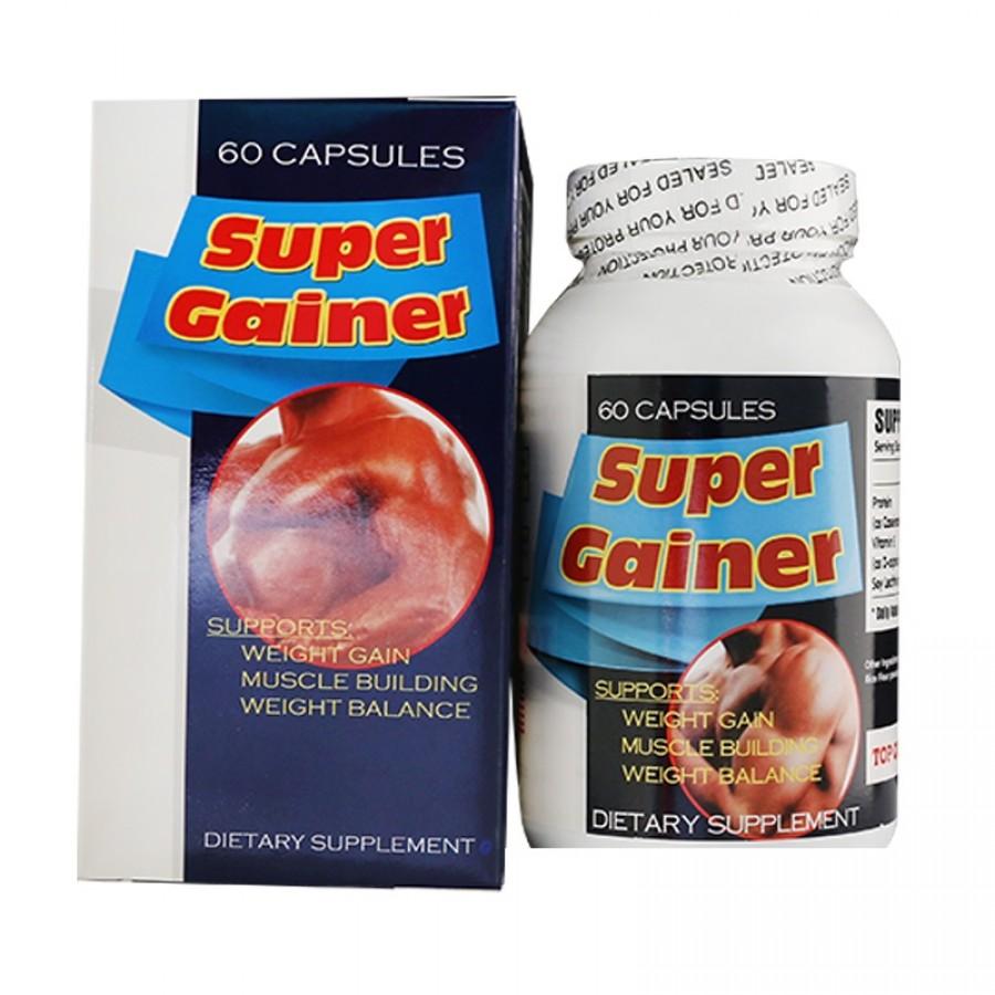 Viên Uống Super Gainer Tăng Cân Tăng Cơ, Mỹ, 60 Viên