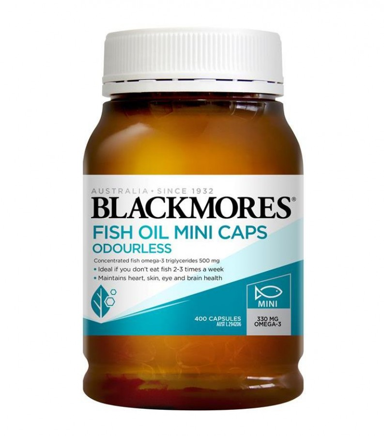 Dầu Cá Không Mùi Blackmores Odourless Fish Oil 100mg Mini Capsules