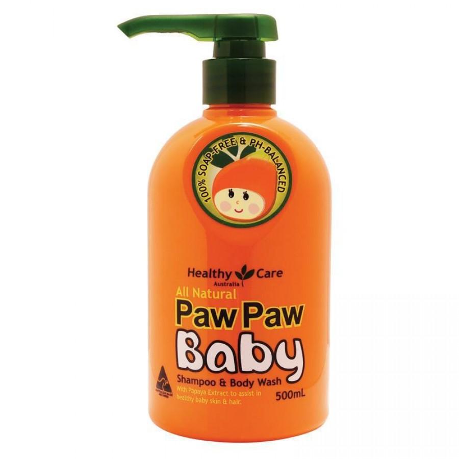 Sữa Tắm Gội Đu Đủ Paw Paw Baby Healthy Care Úc