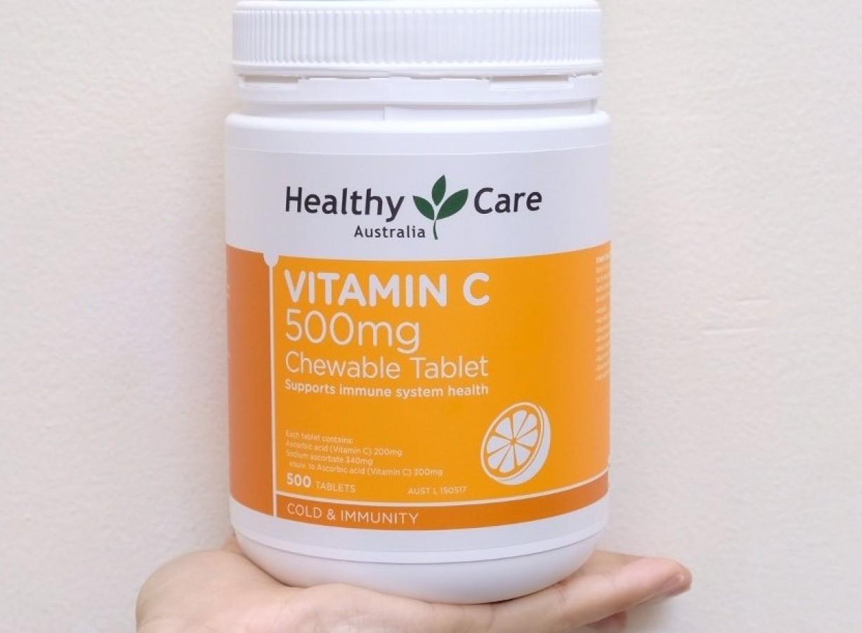 Viên Nhai Healthy Care Vitamin C 500mg Của Úc