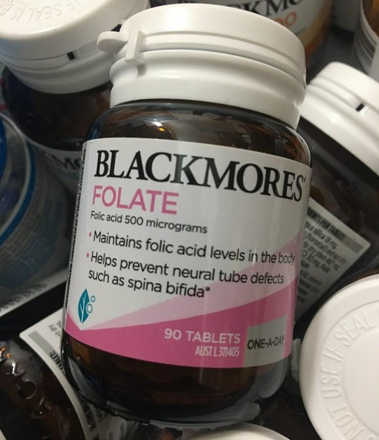 Viên Uống Blackmores Folate 500mcg Cho Bà Bầu
