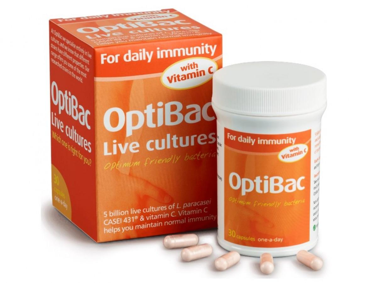 Viên Uống Optibac For Daily Immunity With Vitamin C Hỗ Trợ Miễn Dịch