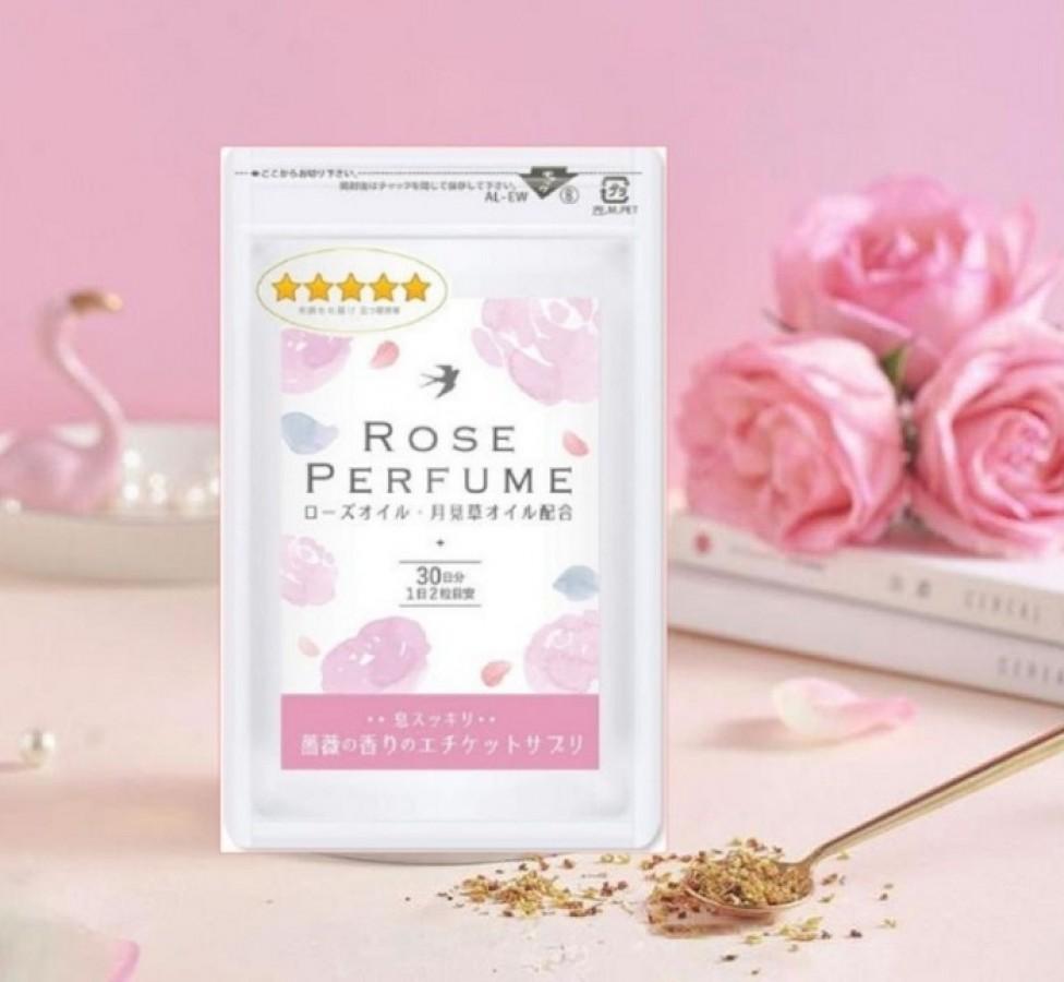 Viên Uống Thơm Cơ Thể Cao Cấp Rose Perfume Nhật Bản