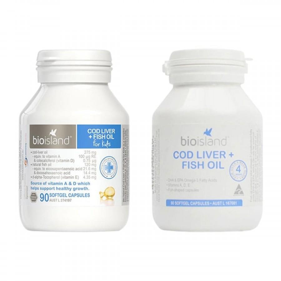 Dầu Cá Cod Liver Fish Oil Bio Island Cho Bé 7 Tháng Trở Lên