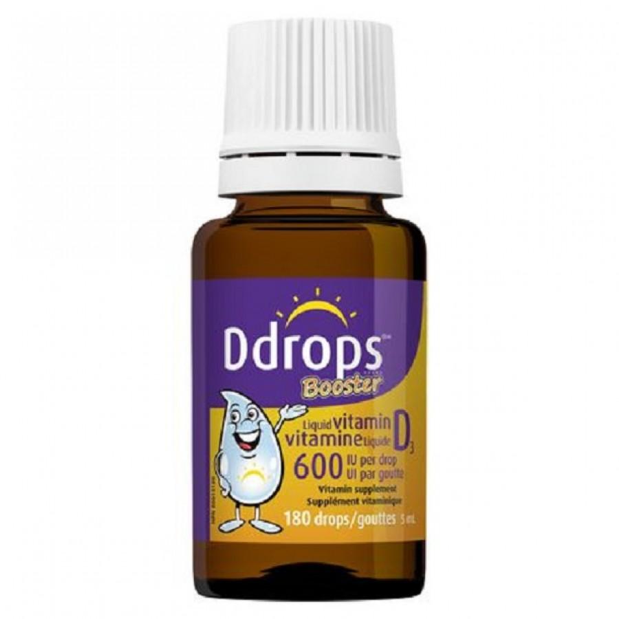 Vitamin D3 Ddrops Booster 600iu Của Mỹ Cho Xương Chắc Khỏe