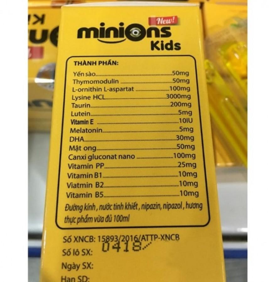 Siro Yến Sào Minions Kids Dành Cho Trẻ Biếng Ăn, Chậm Lớn