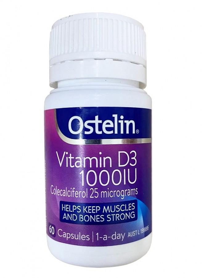 Viên Uống Ostelin Vitamin D3 1000IU Của Úc