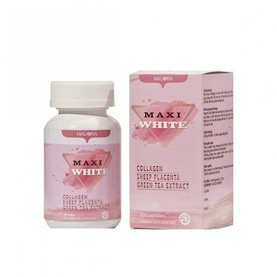 Viên Uống Hỗ Trợ Trắng Da Collagen Maxi White Hauora
