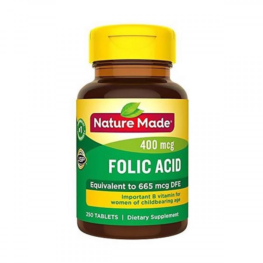 Viên Bổ Sung Acid Folic 400mcg Nature Made 250 Viên