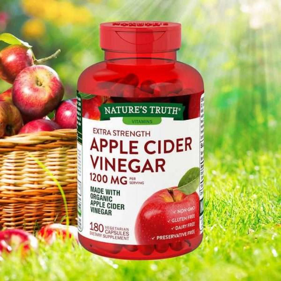 Viên Uống Giấm Táo Hữu Cơ Nature's Truth Apple Cider Vinegar 1200mg