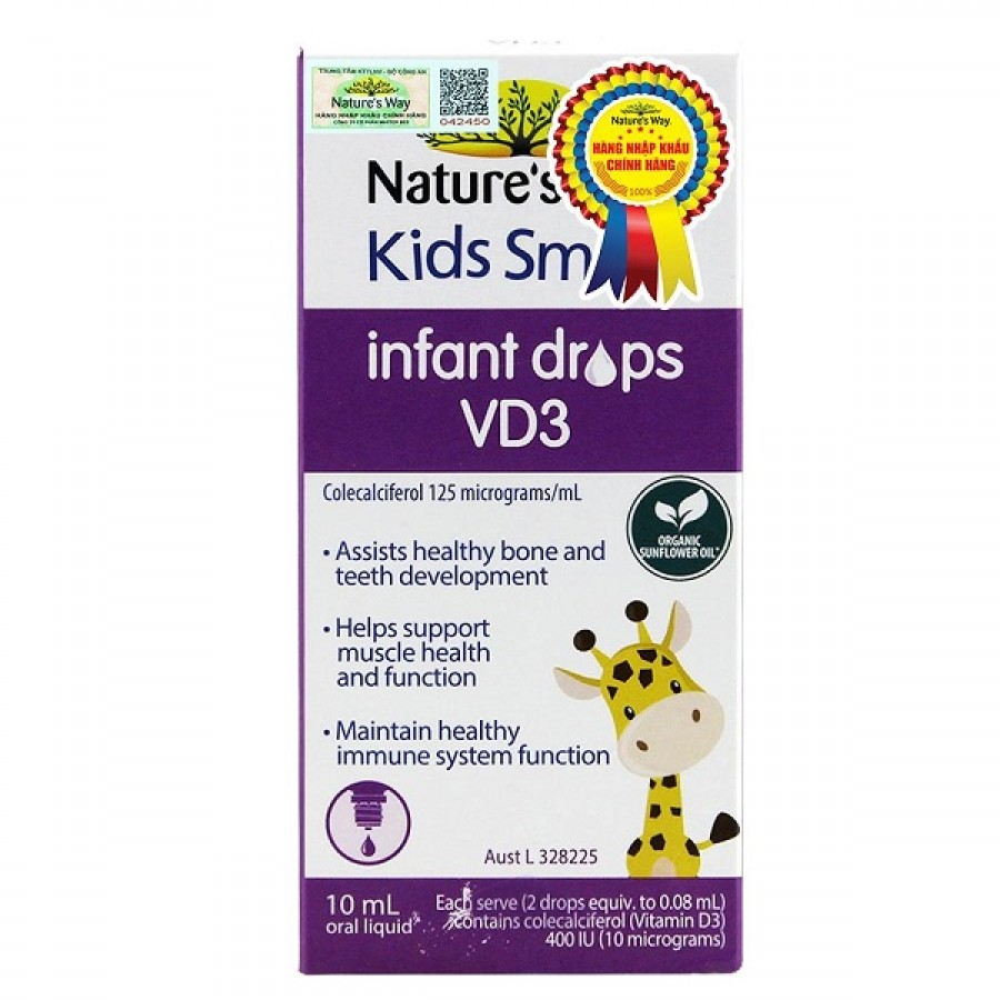 Nature's Way Infant Drops VD3 Cho Trẻ Dưới 12 Tuổi