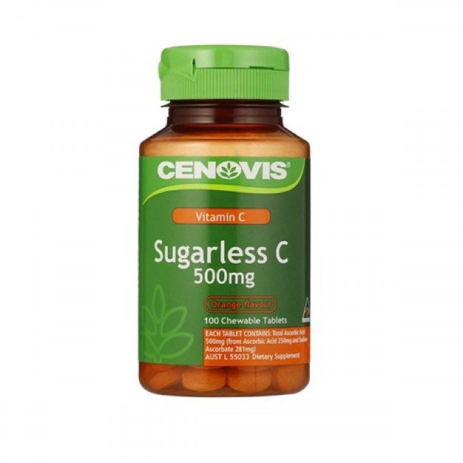 Viên Nhai Vitamin C Không Đường Cenovis Sugarless C 500mg