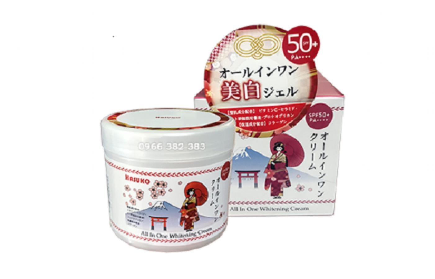 Kem Ủ Trắng Da Toàn Thân Hasuko SPF 50 PA++++ Nhật Bản