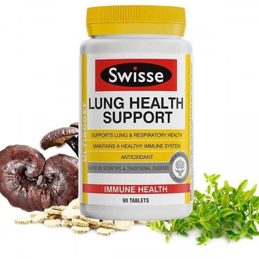 Viên Swisse Lung Health Support Hỗ Trợ Tăng Cường Hệ Hô Hấp