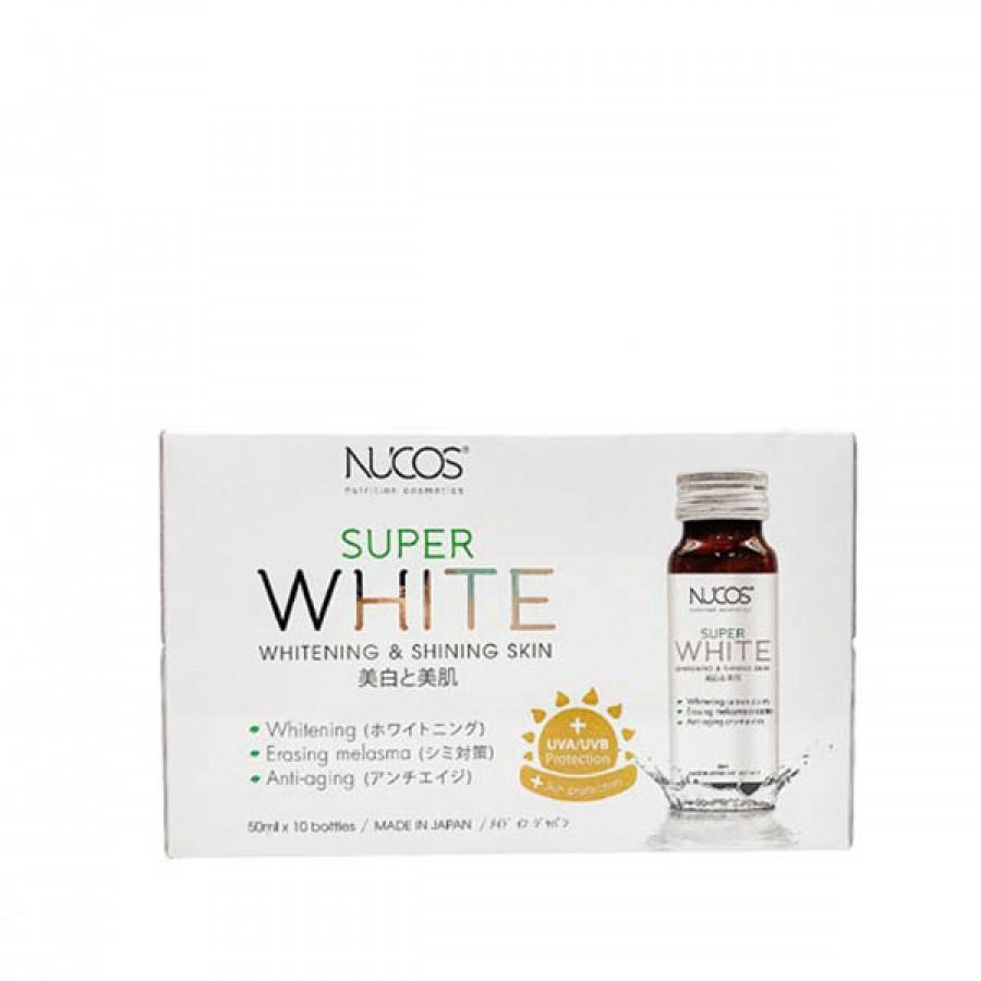 Nước Uống Collagen Hỗ Trợ Trắng Da Nucos Super White Nhật Bản