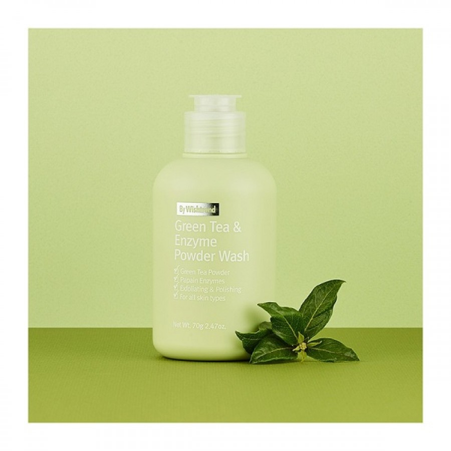 Bột Rửa Mặt Trà Xanh By Wishtrend Green Tea & Enzyme Powder Wash