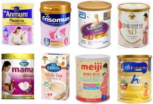 Các Loại Sữa Cho Bé