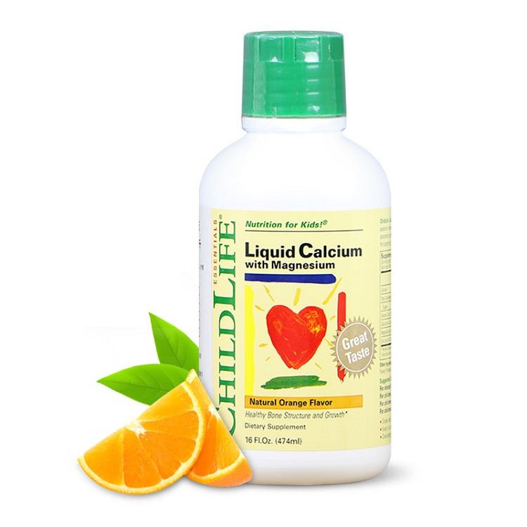 ChildLife Calcium & Magnesium - Siro Vị Cam Cho Bé