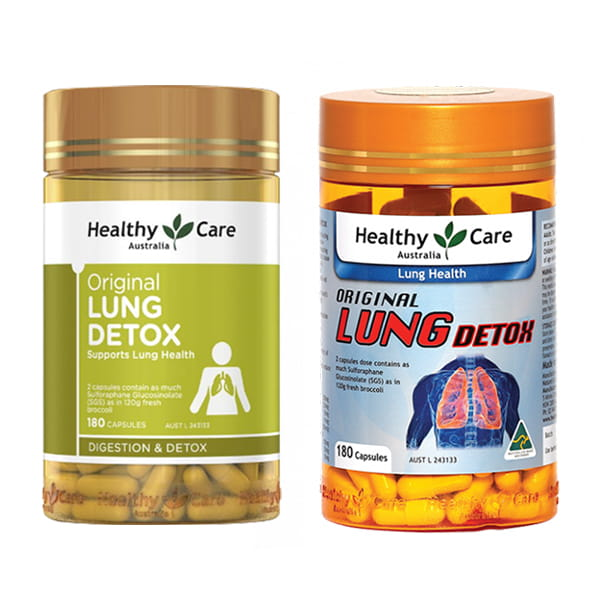 Viên Thải Độc Phổi Healthy Care Original Lung Detox, Healthy Care Original Lung Detox, viên uống Healthy Care Original Lung Detox